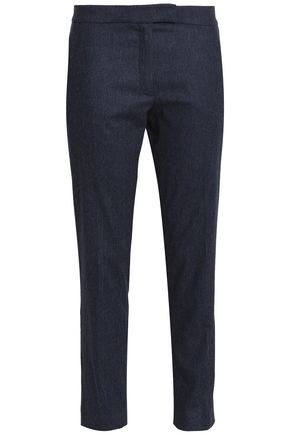 JOSEPH Pinstriped wool-blend tapered pants