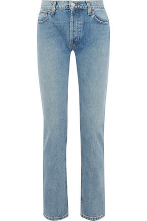 RE/DONE +Cindy Crawford The Crawford mid-rise straight-leg jeans