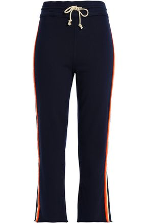 MOTHER French cotton-terry slim-leg pants