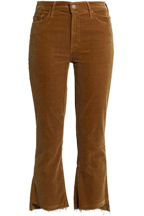 MOTHER Cropped corduroy slim-leg pants