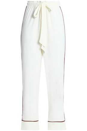GANNI Crepe wide-leg pants