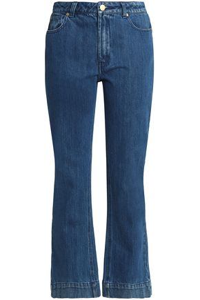 CO Cropped high-rise flared jeans