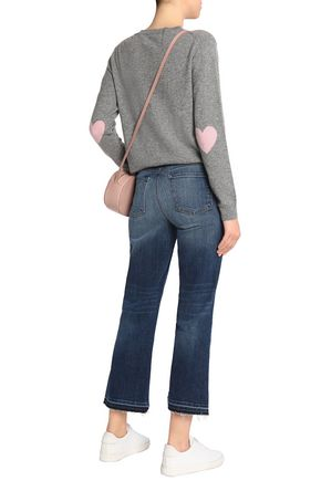 J BRAND Frayed mid-rise bootcut jeans