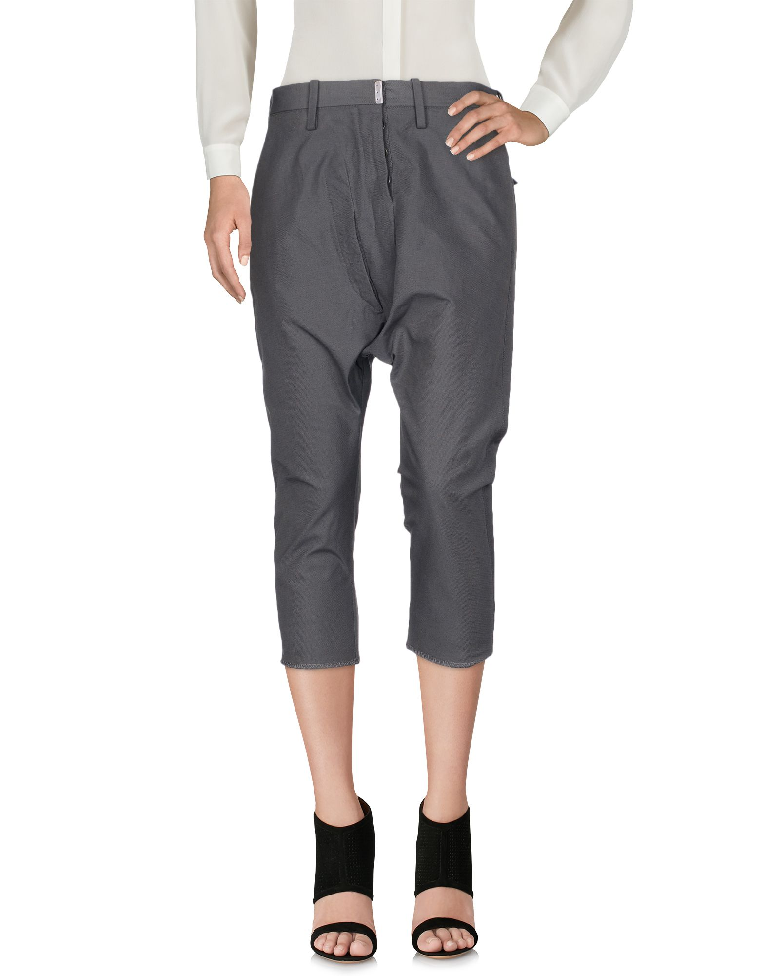 CAROL CHRISTIAN POELL Cropped Pants & Culottes in Lead