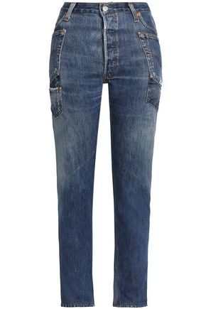 RE/DONE by LEVI'S Distressed high-rise boyfriend jeans