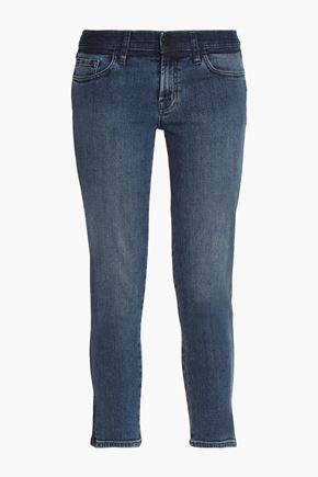 J BRAND Cropped low-rise skinny jeans