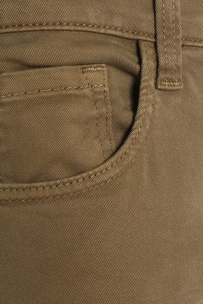J BRAND Brushed cotton-blend flare pants
