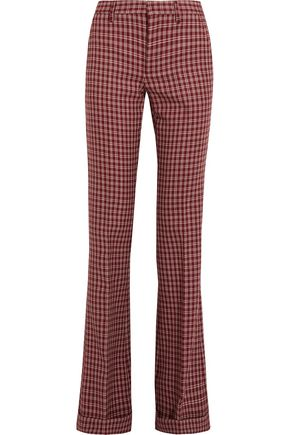 MIU MIU Checked wool bootcut pants