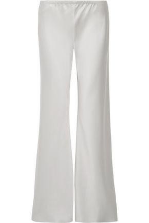 THE ROW Silk-satin flared pants