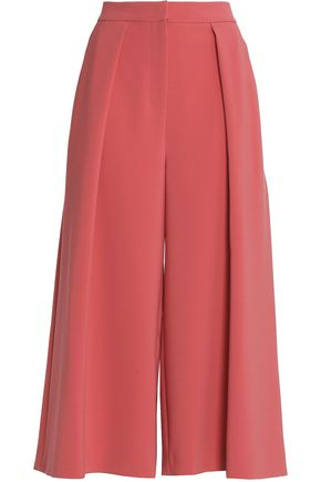 ROKSANDA Pleated cady wide-leg pants