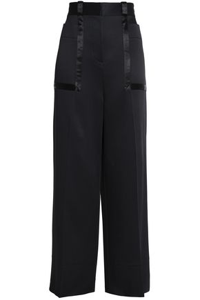 ROKSANDA Satin-crepe wide-leg pants