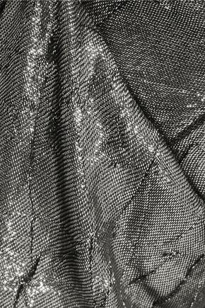 MICHAEL KORS COLLECTION Metallic crinkled jacquard tapered pants