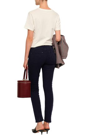 CLAUDIE PIERLOT Embroidered high-rise skinny jeans
