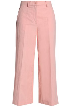 BOUTIQUE MOSCHINO Cropped cotton-blend culottes