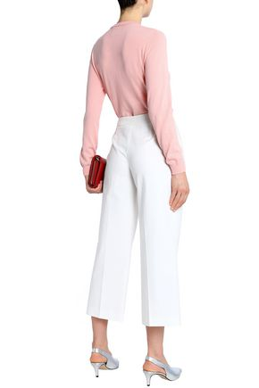 BOUTIQUE MOSCHINO Cotton-blend straight-leg pants