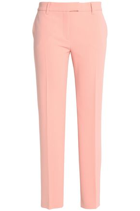 BOUTIQUE MOSCHINO Cropped crepe slim-leg pants