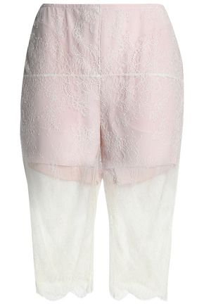 PHILOSOPHY di LORENZO SERAFINI Scalloped lace shorts