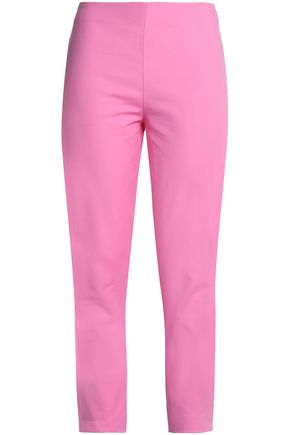MOSCHINO Stretch-cotton slim-leg pants