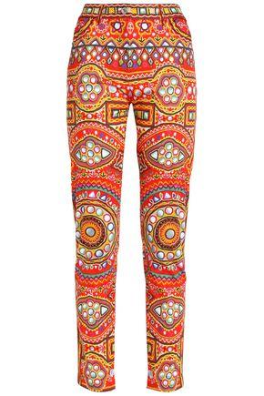 MOSCHINO Printed cotton skinny pants