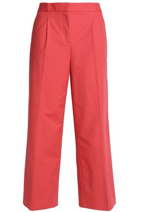 BOUTIQUE MOSCHINO Pleated cotton-blend culottes