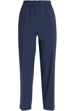 BOUTIQUE MOSCHINO Cropped cotton-blend straight-leg pants