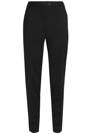 BOUTIQUE MOSCHINO Cropped wool-blend tapered pants