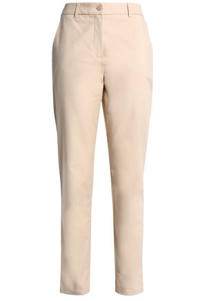 BOUTIQUE MOSCHINO Cotton-blend slim-leg pants