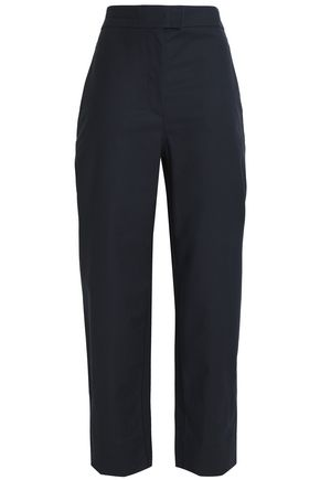 CEDRIC CHARLIER Cotton-blend straight-leg pants