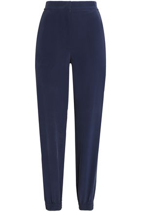 CEDRIC CHARLIER Silk crepe de chine tapered pants