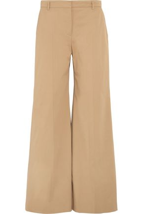 BURBERRY Cotton-blend twill wide-leg pants