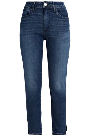 3x1 Faded high-rise skinny jeans