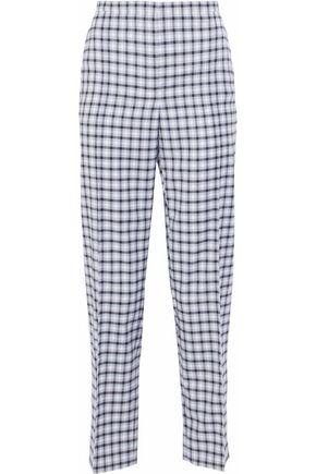 NINA RICCI Checked wool-blend twill straight-leg pants