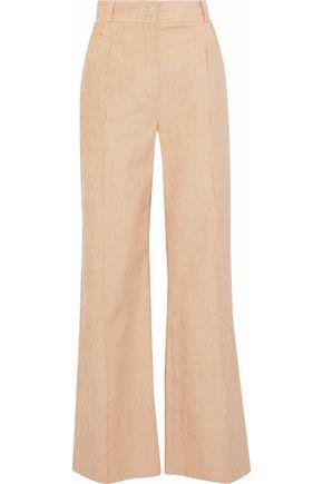 NINA RICCI Cotton-blend corduroy wide-leg pants