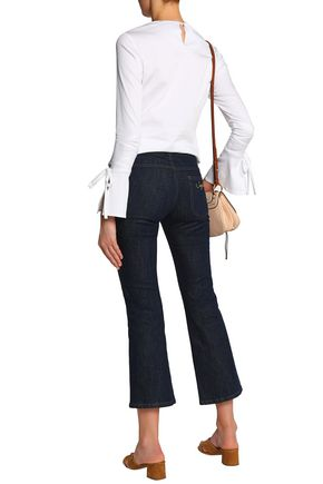 SEE BY CHLOÉ Embroidered mid-rise kick-flare jeans