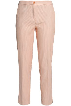 ETRO Cropped cotton-blend jacquard tapered pants