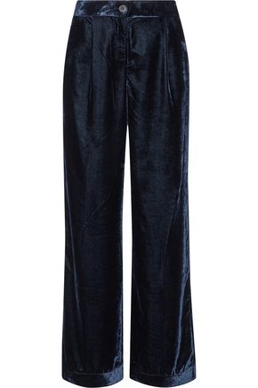 IRIS & INK Kitty velvet wide-leg pants