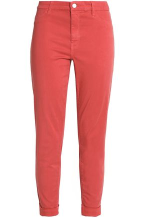 J BRAND Peacock cropped mid-rise skinny jeans