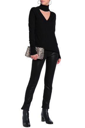 J BRAND Coated low-rise skinny jeans