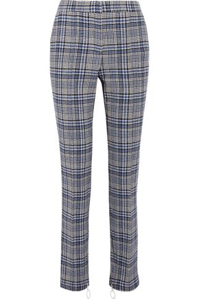 OFF-WHITE™ Checked tweed slim-leg pants