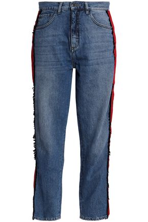 VICTORIA, VICTORIA BECKHAM Cropped high-rise straight-leg jeans