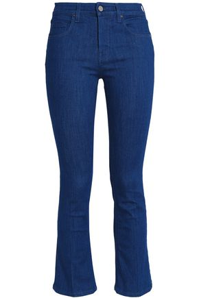 VICTORIA, VICTORIA BECKHAM Cropped high-rise bootcut jeans