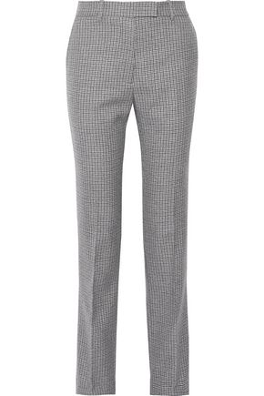 CALVIN KLEIN 205W39NYC Houndstooth wool straight-leg pants