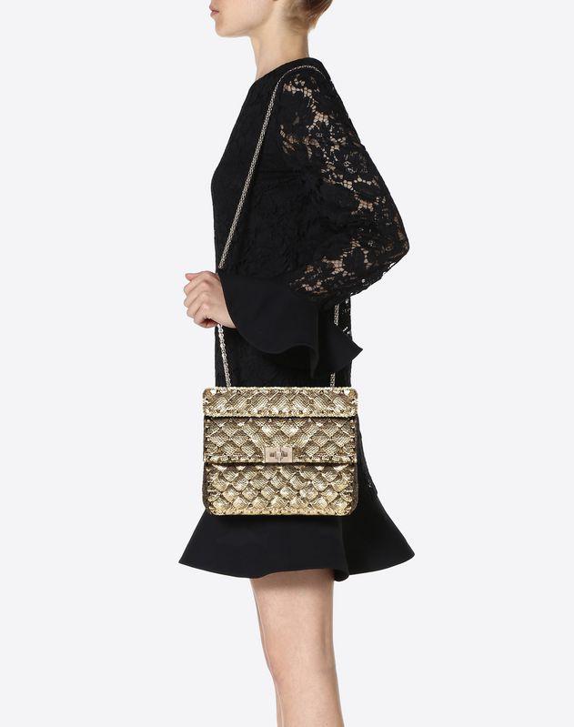 Medium Sequin Embroidered Spike Bag
