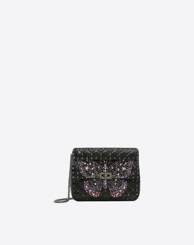 Medium Crystal Butterfly Rockstud Spike.it Bag