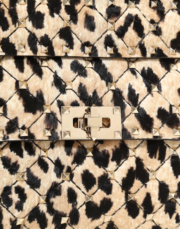 Medium Leopard Pony Spike Bag