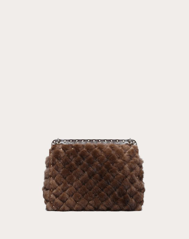 Medium Mink Rockstud Spike Bag
