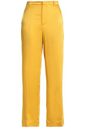 TOME Satin-crepe straight-leg pants