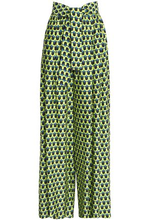 TOME Printed crepe wide-leg pants