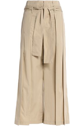 TOME Pleated cotton-twill wide-leg pants