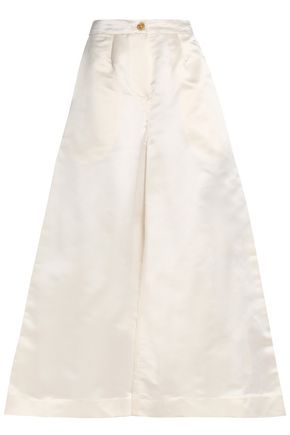TOME Silk-satin wide-leg pants